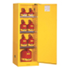 Safety storage & security carts: Justrite - Yellow Slimline Safety Cabinets
