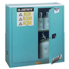 Justrite Blue Steel Safety Cabinets for Corrosives JUS 400-893002