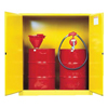 Justrite Yellow Vertical Drum Safety Cabinets JUS 400-899100