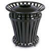 Rubbermaid Commercial WeatherGard® Steel Container with Brute® Rigid Liner RCP 4021 BLA