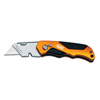 Klein Tools Pro Folding Utility Knives, 4 1/2 In, Warping Blade KLT 409-44131