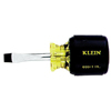 Klein Tools Heavy-Duty Slotted Keystone-Tip Cushion-Grip Screwdrivers KLT 409-602-8