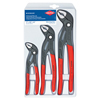 Knipex Cobra 3-Piece Locking Pliers Sets, 7 In; 10 In; 12 In KNX 414-002006US1