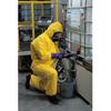 Kimberly Clark Professional KleenGuard® A70 Chemical Splash Protection Coveralls, Hood, Elastic, Yellow, Med KIM 138-09812