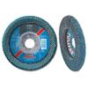 Pferd Polifan Sgp Zirkon Curve Flap Discs, 4 1/2 In, 40 Grit, 7/8 In Arbor, 13,300 RPM PFR 419-67339