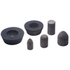 Abrasives: CGW Abrasives - Resin Cones And Plugs, 1 1/2 In Dia, 3 In Thick, 24 Grit Aluminum Oxide