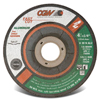 "Abrasives: CGW Abrasives - Fast Cut Depressed Center Wheels - 1/4"" Grinding, Type 27"