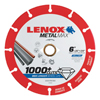Lenox Metalmax Cut-Off Wheels, 6 In, 7/8 In Arbor, Steel/Diamond LNX 433-1972923