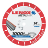 Lenox Metalmax Cut-Off Wheels, 14 In, 1 In Arbor, Steel/Diamond LNX 433-1972929