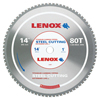 Lenox Metal Cutting Circular Saw Blades, 14 In, 80 Teeth, Steel LNX 433-21891ST140080CT