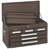 tool storage: Kennedy - Standard Mechanics' Chests, 26 1/8 In X 12 In X 14 3/4 In, Brown Wrinkle