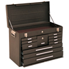 Kennedy Machinists Chests, 20 1/8 In X 8 1/2 In X 13 5/8 In, 1800 Cu In, Brown Wrinkle KEN 444-620B