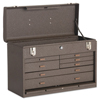 Kennedy Machinists Chests, 20 1/8 In X 8 1/2 In X 13 5/8 In, 1694 Cu In, Brown Wrinkle KEN 444-520B