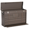 Kennedy Machinists Chests, 26 3/4 In X 8 1/2 In X 18 In, 3000 Cu In, Brown Wrinkle KEN 444-52611B