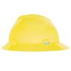 MSA V-Gard Protective Hats, Fas-Trac Ratchet, Hi-Viz Yellow-Green MSA 454-10061515
