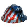 MSA Freedom Series V-Gard Helmets, Fas-Trac III, 6 1/2 - 8, American Stars & Stripes MSA 454-10071157