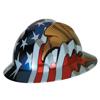 MSA Freedom Series V-Gard Helmets, Fas-Trac III, 6 1/2 - 8, American Flag W/2 Eagles MSA 454-10071159