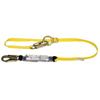 MSA Workman Shock-Absorbing Lanyard, 6 Ft, C Connection, Snaphook, 1 Leg MSA 454-10113158