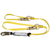 MSA Workman Twin-Leg Shock-Absorbing Lanyard, Lc/Gl3100 Connection, 2 Legs MSA 454-10113163