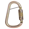 MSA Steel Carabiners, 1 In, Anchorage; Silver MSA 454-10089207