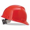 MSA Red V-Gard Slotted Hard Hat ORS 454-475363