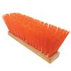 cleaning chemicals, brushes, hand wipers, sponges, squeegees: Magnolia Brush - OSHA-Orange Plastic Street Brooms, 16 In, 5 In Trim L, Osha Orange Poly Corn