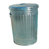 Magnolia Brush Pre-Galvanized Trash Can With Lid, 20 Gal, Galvanized Steel, Gray MGB 455-20GALLON-W/LID