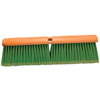 cleaning chemicals, brushes, hand wipers, sponges, squeegees: Magnolia Brush - No. 6 Line Floor Brushes, 24 In, 4 In Trim L, Light Green Flagged-Tip Plastic
