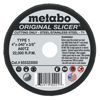 Abrasives: Metabo - Slicer Cutting Wheel, 4 In Dia, .04 In Thick, A 60 Tz Grit, Alum. Oxide
