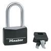 Master Lock Covered Solid Body Padlock, 1/4 In Diam., 1 1/2 In L X 13/16 In W, Black MLK 470-141DLF