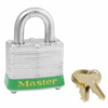 Master Lock Steel Body Safety Padlocks MST 470-3LHRED