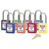 Master Lock No. 410 & 411 Lightweight Xenoy Safety Lockout Padlocks MST470-410LTRED