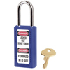Master Lock No. 410 & 411 Lightweight Xenoy Safety Lockout Padlocks, Blue, Keyed Diff. MLK 470-411BLU