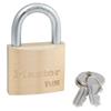 Master Lock No. 4140 Economy Padlock, 1/4 Dia., 13/16L X 13/16W, Silver, Keyed Different MLK 470-4140KD