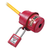 Master Lock Safety Series Rotating Electrical Plug Lockouts, 3 1/4 In L X 2 1/4 In Dia. MLK 470-487