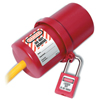 Master Lock Safety Series Rotating Electrical Plug Lockouts, 6 In L X 3 In Dia. MLK 470-488