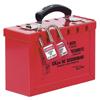 Master Lock Group Lock Box, 9 1/4 In L X 6 In H X 3 3/4 In W, Steel, Red MLK 470-498A