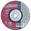 Carborundum Depressed Center Wheel, 4 1/2 In Dia, 1/4 In Thick, 24 Grit Zirconia ORS 481-05539502873
