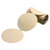 Carborundum Gold Aluminum Oxide Dri-Lube Paper Discs, Seeded Gel, 5 In Dia., P120 Grit, Roll ORS 481-05539510553