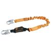 Honeywell Titan Pack-Type Shock Absorbing Lanyard, Locking Snap Hooks, 1 Leg, Orange FND 493-T6111-Z7/6FTAF
