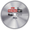 M.K. Morse Metal Devil&Trade; Nxt Circular Saw Blades, 14 In, 1 In Arbor, 1,800 RPM, 66 Teeth MKM 497-CSM1466NSC