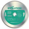 Evolution TCT Metal-Cutting Blades, 14 In, 1 In Arbor, 1,600 RPM, 80 Teeth EVO 510-14BLADE-AL