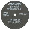 Norton Type 01 Gemini Reinforced Cut-Off Wheels NRT 547-66243510645