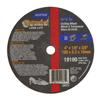Norton Type 01 Gemini Small Diameter Cut-Off Wheel, Long Life, 4Dia, 3/8 Arbor,Coarse NRT 547-66243510661