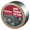 Adhesives & Tapes: Berry Plastics - 322 Multi-Purpose Plain Foil Tape, 2 In X 50 Yd, 5 Mil, Aluminum Silver