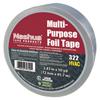 Berry Plastics 323 Multi-Purpose Plain Foil Tape, 72 mm X 46 M, 5 Mil, Aluminum Silver BER 573-1087629