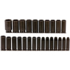 Proto Torqueplus™ 25 Piece Metric Deep Impact Socket Sets PTO 577-74216