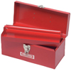 tool storage: Proto - General Purpose Tool Boxes, Double Latch, 20 X 8 1/2 X 9 1/2, Steel, Red