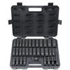 Blackhawk 33 Piece Deep Impact Socket Sets, 1/2 In, 6 Point BLH 578-UW-533CDS