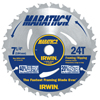 Irwin Portable Corded Circular Saw Blades, 7 1/4 In, 24 Teeth, 10/Box IRW 585-24030